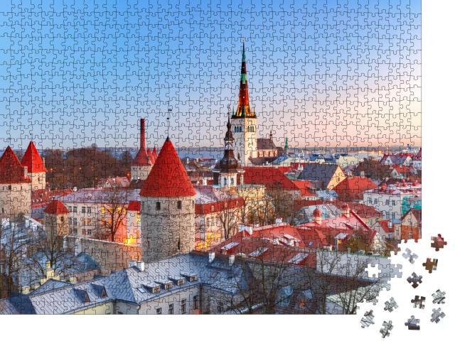 """Puzzle 1000 Teile """"Mittelalterliche Altstadt von Tallinn, Estland"""""""
