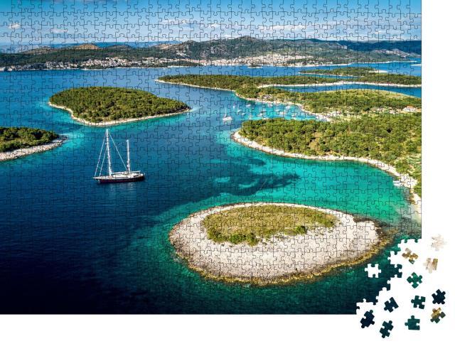 """Puzzle 1000 Teile """"Wunderschöne Paklinski-Inseln in Hvar, Kroatien"""""""