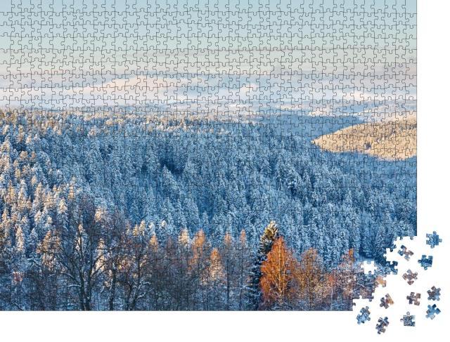"""Puzzle 1000 Teile """"Magische Winterlandschaft im Schwarzwald, Deutschland"""""""