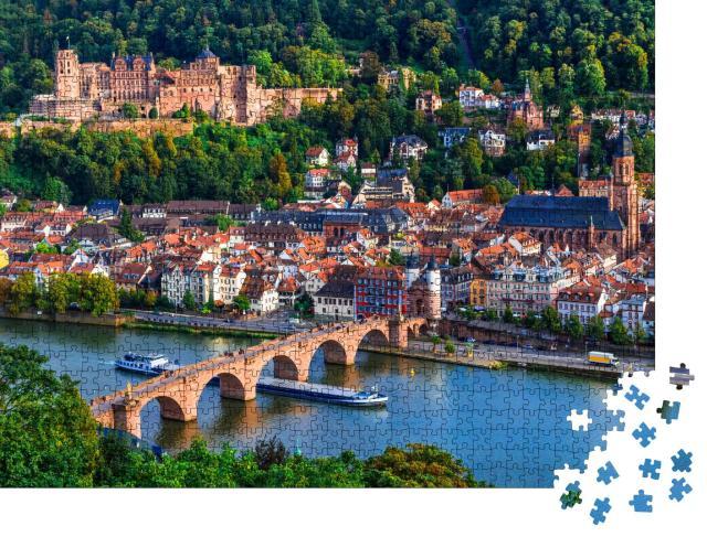 """Puzzle 1000 Teile """"Wunderschöner Blick auf Heidelberg am Neckar"""""""