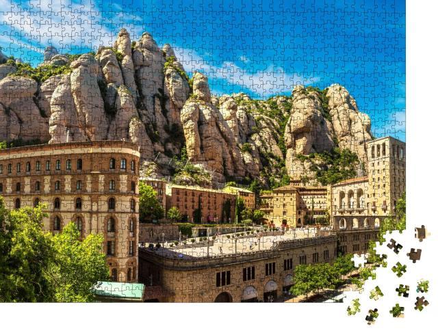 """Puzzle 1000 Teile """"Kloster von Montserrat im Sommer, Katalonien, Spanien"""""""