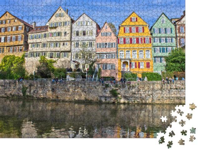 """Puzzle 1000 Teile """"Tübingen, Altstadtansicht am Neckar, Deutschland"""""""