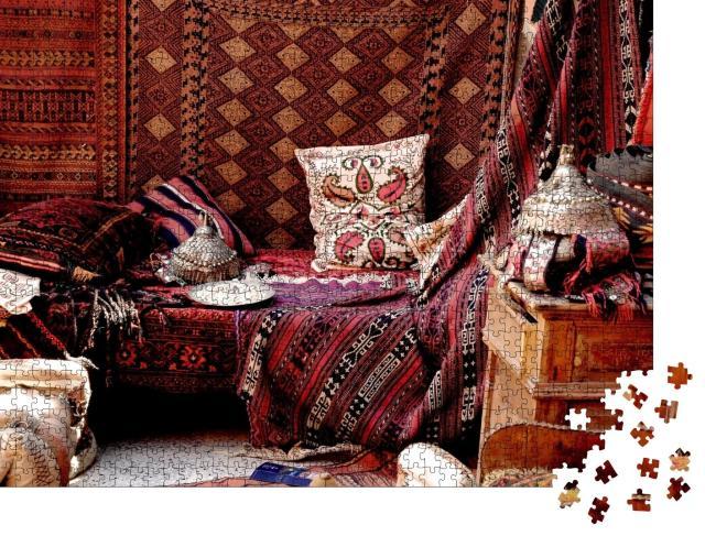"""Puzzle 1000 Teile """"Teppichladen eines Basars, Türkei"""""""
