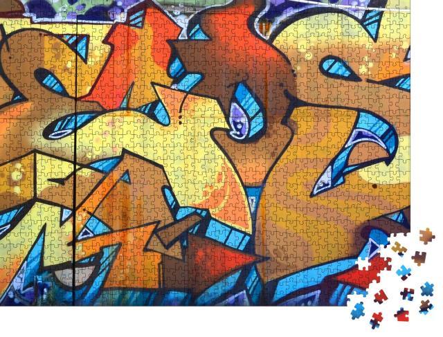 """Puzzle 1000 Teile """"Straßenkunst: . Abstraktes Graffiti-Gemälde"""""""