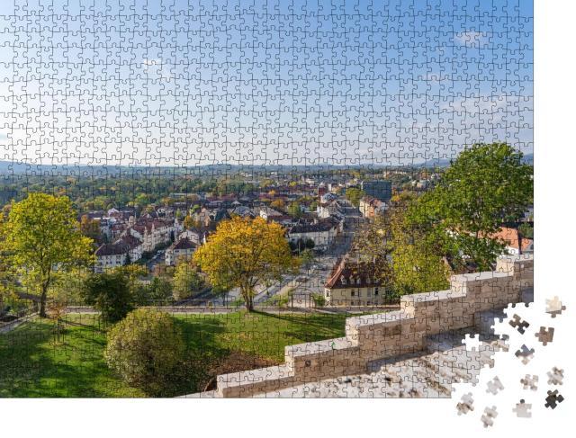 """Puzzle 1000 Teile """"Blick auf die Stadt Kassel, Deutschland"""""""
