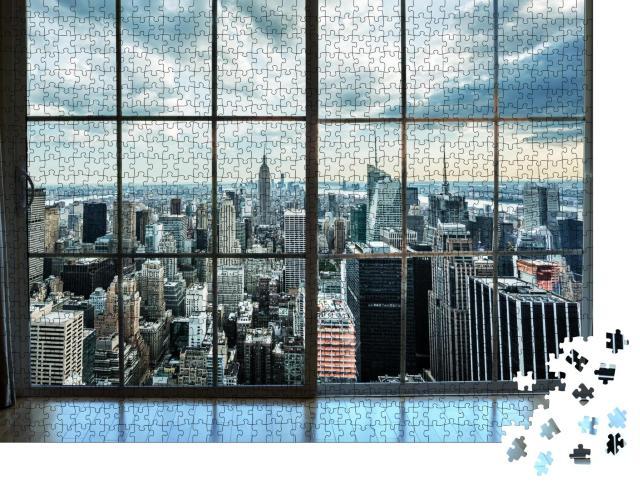 """Puzzle 1000 Teile """"Ausblick aus einem Penthaus in Manhatten"""""""