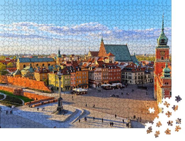 """Puzzle 1000 Teile """"Blick von oben auf Warschau mit Altstadt, Polen"""""""