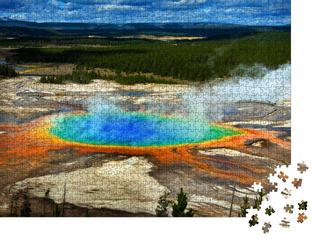 """Puzzle 1000 Teile """"Grand Prismatic Spring, Yellowstone National Park, USA"""""""