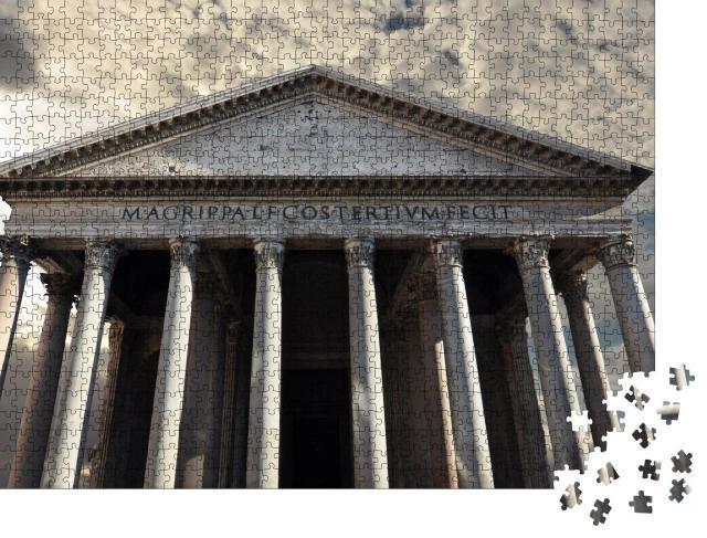 """Puzzle 1000 Teile """"Pantheon, Tempel für die Götter des alten Roms"""""""