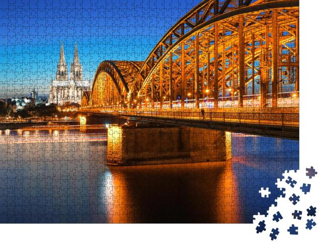 """Puzzle 1000 Teile """"Dom und Hohenzollernbrücke, Köln, Deutschland"""""""