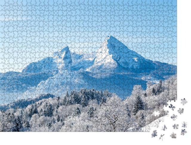 """Puzzle 1000 Teile """"Schöne Aussicht auf den berühmten Watzmann, Bayern"""""""