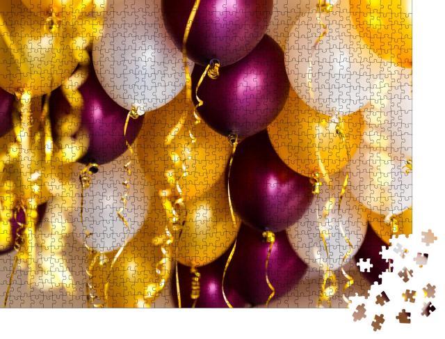 """Puzzle 1000 Teile """"Bunte Ballons und Luftschlangen, Party"""""""