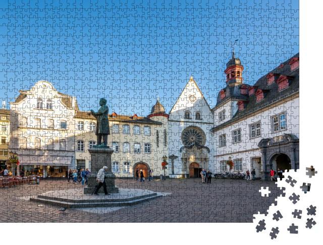 """Puzzle 1000 Teile """"Jesuitenplatz in Koblenz, Deutschland"""""""