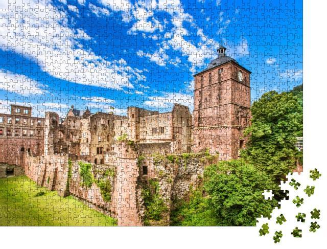"""Puzzle 1000 Teile """"Die Ruinen des Heidelberger Schlosses, Heidelberg, Deutschland"""""""