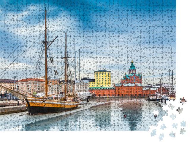 """Puzzle 1000 Teile """"Finnischer Winter in Helsinki"""""""