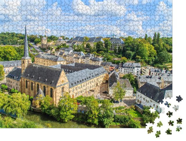 """Puzzle 1000 Teile """"Sonnige Ansicht von Luxemburg"""""""