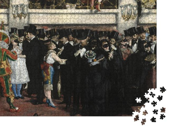 """Puzzle 1000 Teile """"Maskenball in der Oper, Edouard Manet 1873"""""""