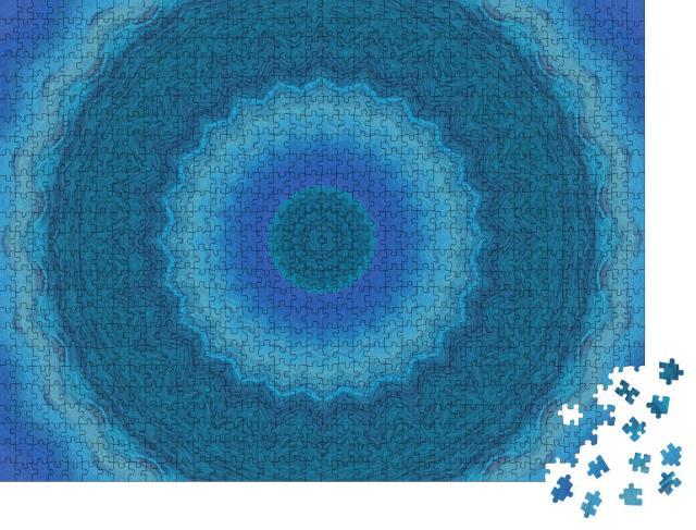 """Puzzle 1000 Teile """"Sphärisches blaues Mandala"""""""