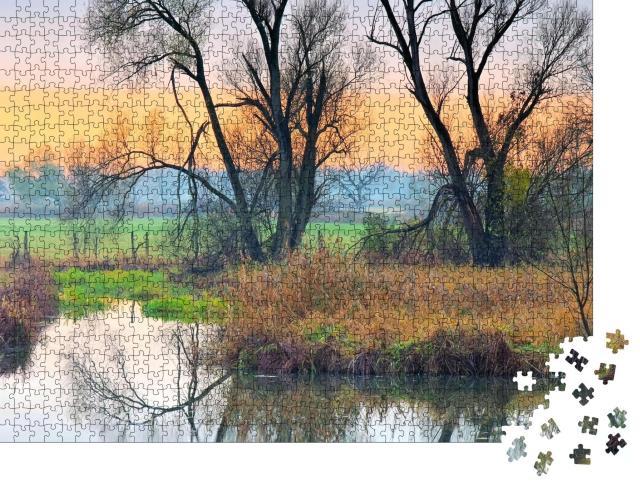 """Puzzle 1000 Teile """"Kleiner Spreewald im Herbst, Brandenburg"""""""