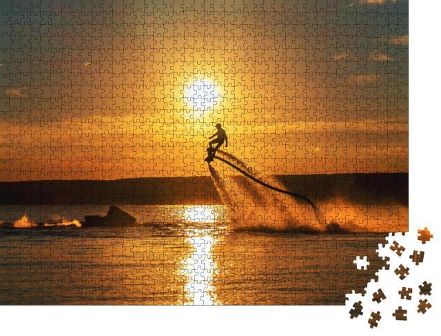 """Puzzle 1000 Teile """"Flyboard: Schweben über dem Meer"""""""