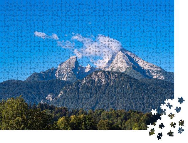 """Puzzle 1000 Teile """"Watzmann in den Berchtesgadener Alpen, Deutschland"""""""