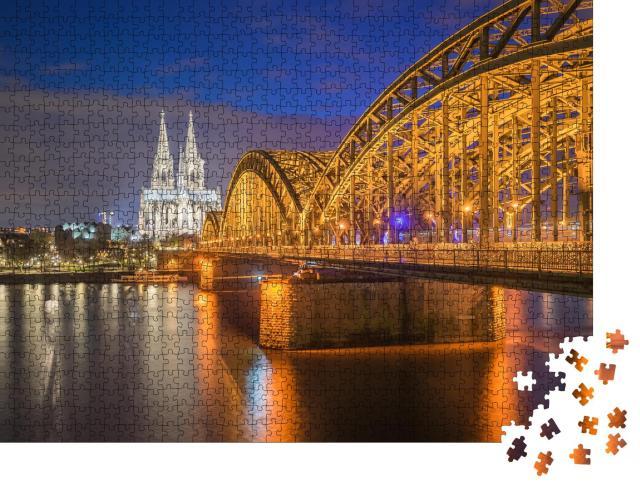 """Puzzle 1000 Teile """"Nachtansicht des Kölner Doms in Köln, Deutschland"""""""