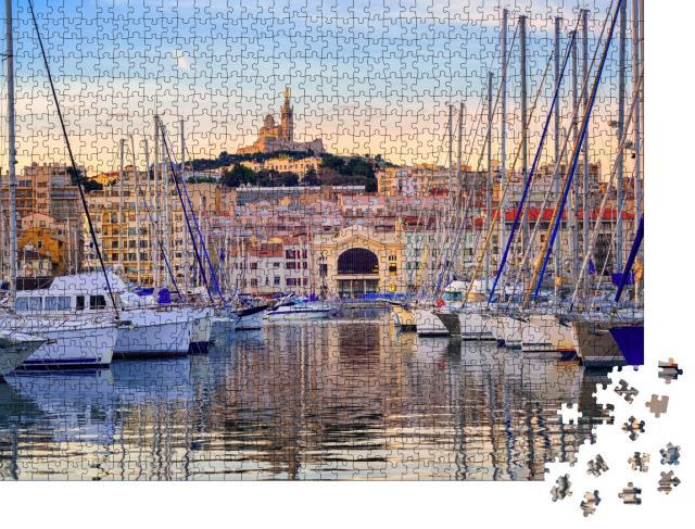 """Puzzle 1000 Teile """"Yachten im Wasser vor Marseille, Frankreich"""""""