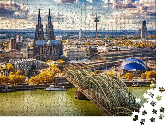 """Puzzle 1000 Teile """"Luftbildaufnahme von Köln, Deutschland"""""""
