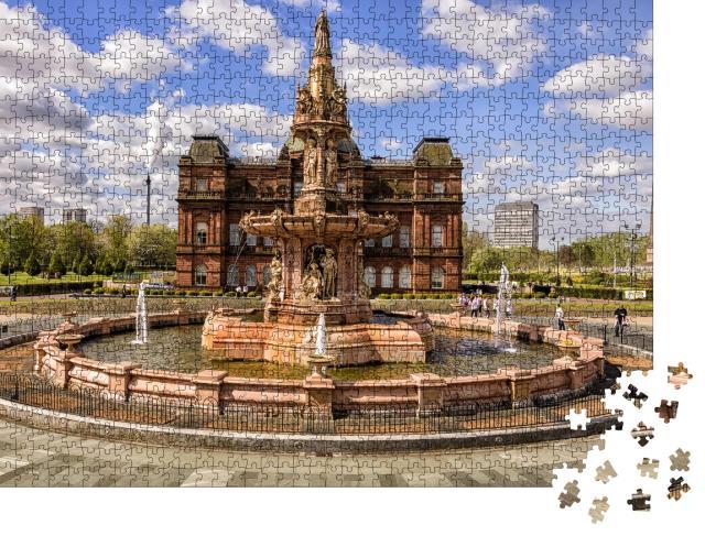 """Puzzle 1000 Teile """"Glasgow Doulton-Brunnen, Schottland"""""""