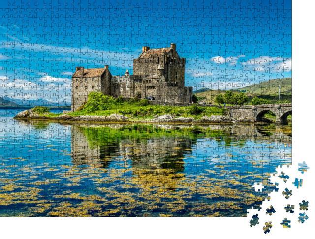 """Puzzle 1000 Teile """"Sommerliches Schloss von Dornie, Schottland"""""""