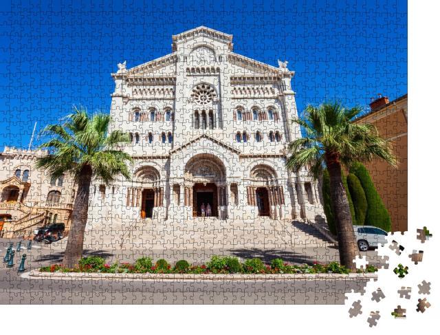 """Puzzle 1000 Teile """"Kathedrale Saint Nicholas Monaco oder Kathedrale Unserer Lieben Frau, Monaco"""""""