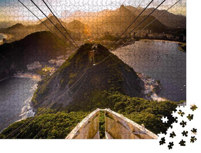 """Puzzle 1000 Teile """"Seilbahn auf den Zuckerhut, Rio De Janeiro, Brasilien"""""""