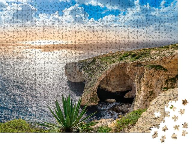 """Puzzle 1000 Teile """"Blaue Grotte, Malta"""""""
