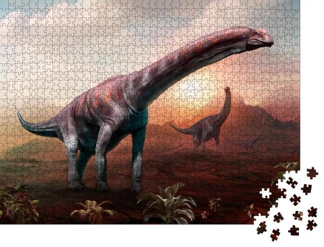 "Puzzle 1000 Teile ""Argentinosaurus, 3D Illustration"""