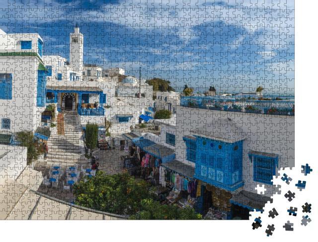 """Puzzle 1000 Teile """"Schöne Aussicht auf Sidi Bou Said, Tunis, Tunesien"""""""