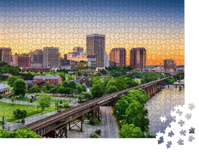 """Puzzle 1000 Teile """"Skyline von Richmond, Virginia, USA"""""""
