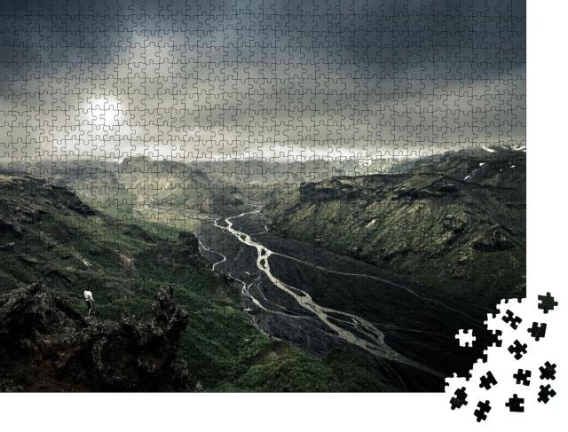 """Puzzle 1000 Teile """"Die herrliche Landschaft von Thorsmork, Island"""""""
