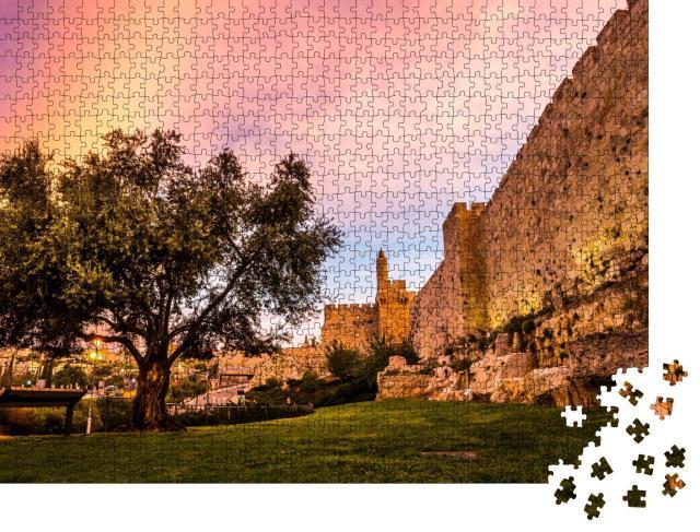 "Puzzle 1000 Teile ""Das Minarett des Davidsturms, Jerusalem, Irael"""