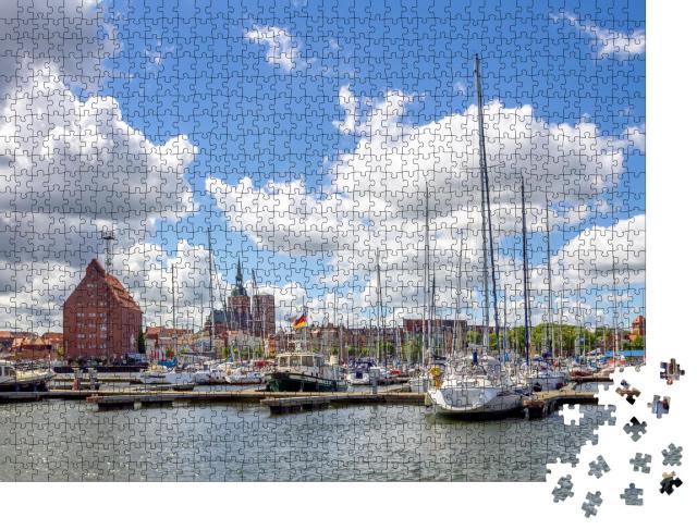 """Puzzle 1000 Teile """"Hafen, Stralsund"""""""
