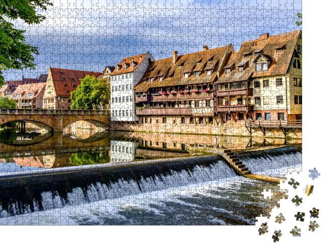 """Puzzle 1000 Teile """"Historische Fassade: Altstadt von Nürnberg, Deutschland"""""""