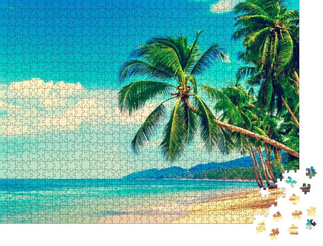 """Puzzle 1000 Teile """"Tropisches Strandparadies"""""""