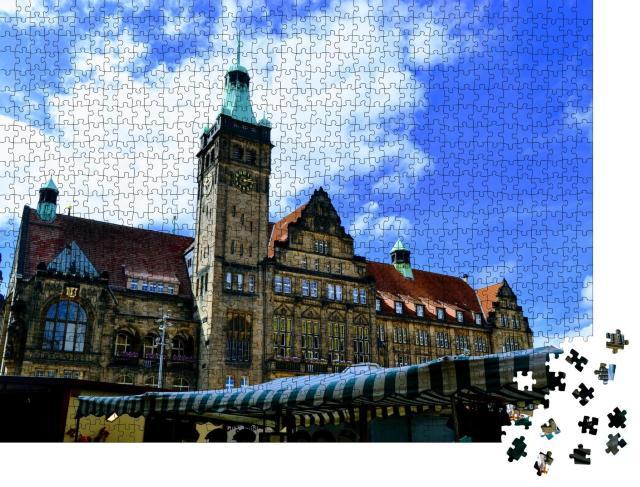 """Puzzle 1000 Teile """"Rathaus von Chemnitz, Deutschland"""""""
