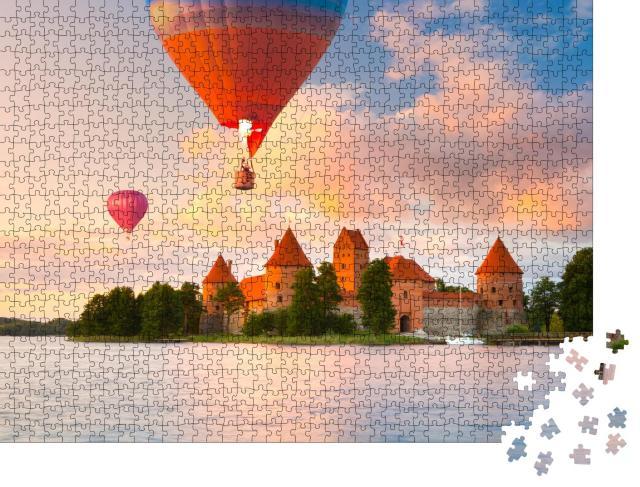 """Puzzle 1000 Teile """"Schloss aus rotem Backstein auf Trakai, Litauen"""""""