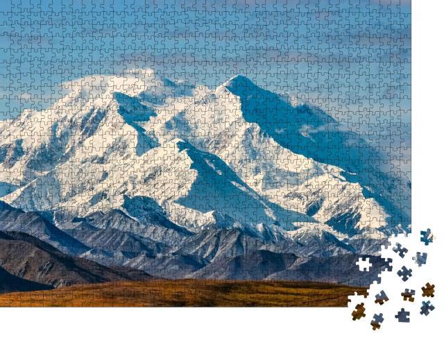 """Puzzle 1000 Teile """"Blick auf den majestätischen Mount McKinley, Alaska"""""""