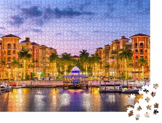 """Puzzle 1000 Teile """"Naples: Skyline der Stadt vor dem Wasser, Florida, USA"""""""