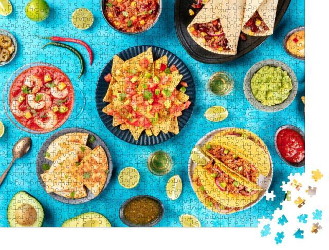 """Puzzle 1000 Teile """"Auswahl an typisch mexikanischen Gerichten"""""""
