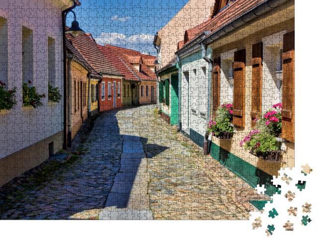 """Puzzle 1000 Teile """"Hoyerswerda: sehenswerte Altstadt, Deutschland"""""""