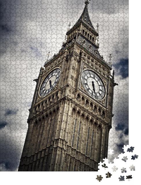 """Puzzle 1000 Teile """"Stimmungsvolle Aufnahme des Big Ben, London, England"""""""
