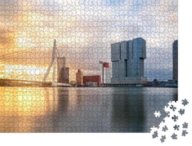 """Puzzle 1000 Teile """"Erasmusbrücke in Rotterdam, Niederlande"""""""