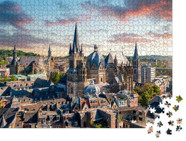 """Puzzle 1000 Teile """"Stadt Aachen, Deutschland"""""""